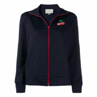 Gucci Women's 'Cherry Logo Patch Track' Jacket