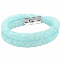 Swarovski Bracelet 'Medium Stardust Light Blue Double'